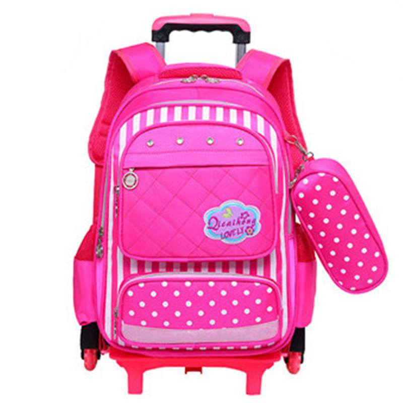 Kids 2/6 Wheels Removable Trolley Backpack Wheeled Bags Children School Bag for Boys Girls Travel Bags Child School Backpack for samsung galaxy note 8 0 gt n5100 n5110 case cover 8 litchi pu leather stand tablet protect the shell skin