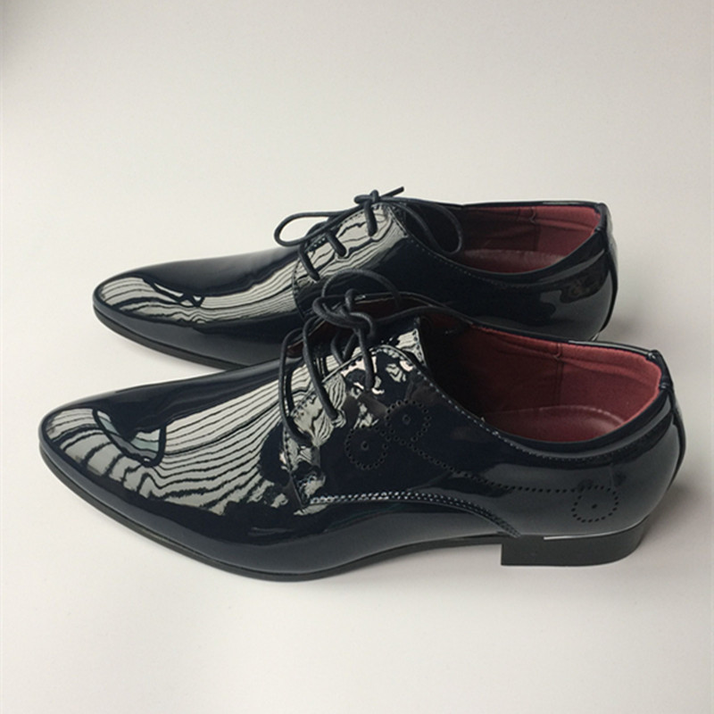 or Cuir Orteil Style 022 Pointu Occasionnels D'affaires Richelieu bleu Robe Oxford Split Noir Hommes En rouge Chaussures Vintage Appartements Vache Britannique Bq0HS0