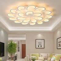 Chandelierrec Online New Modern LED Ceiling Chandeliers For Living Room Bedroom Decor Lighting Flower Type lighting Chandeliers