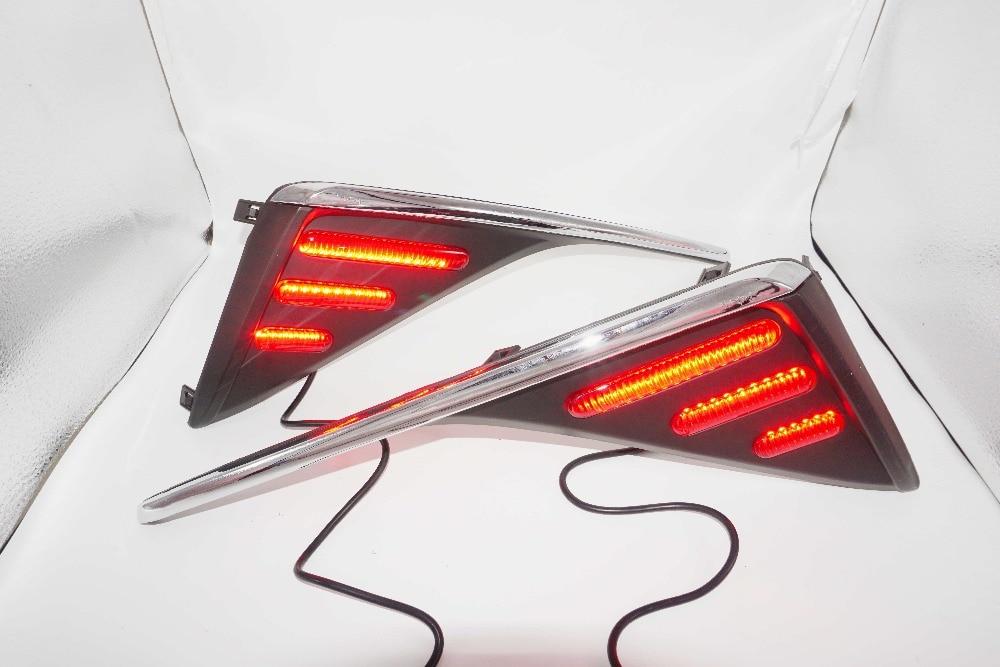 For TOYOTA C-HR CHR 2016 2017 Car LED Front light Rear lamp Fog Lamp brake lights LED DRL Daytime Running Lights  MAIZHENG
