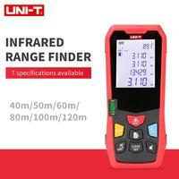 UNI T Handheld Laser Rangefinder Distance Meter 40M 50M 60M 80M 100M 120Medidor Laser Tape Build Measure Device Electronic Ruler