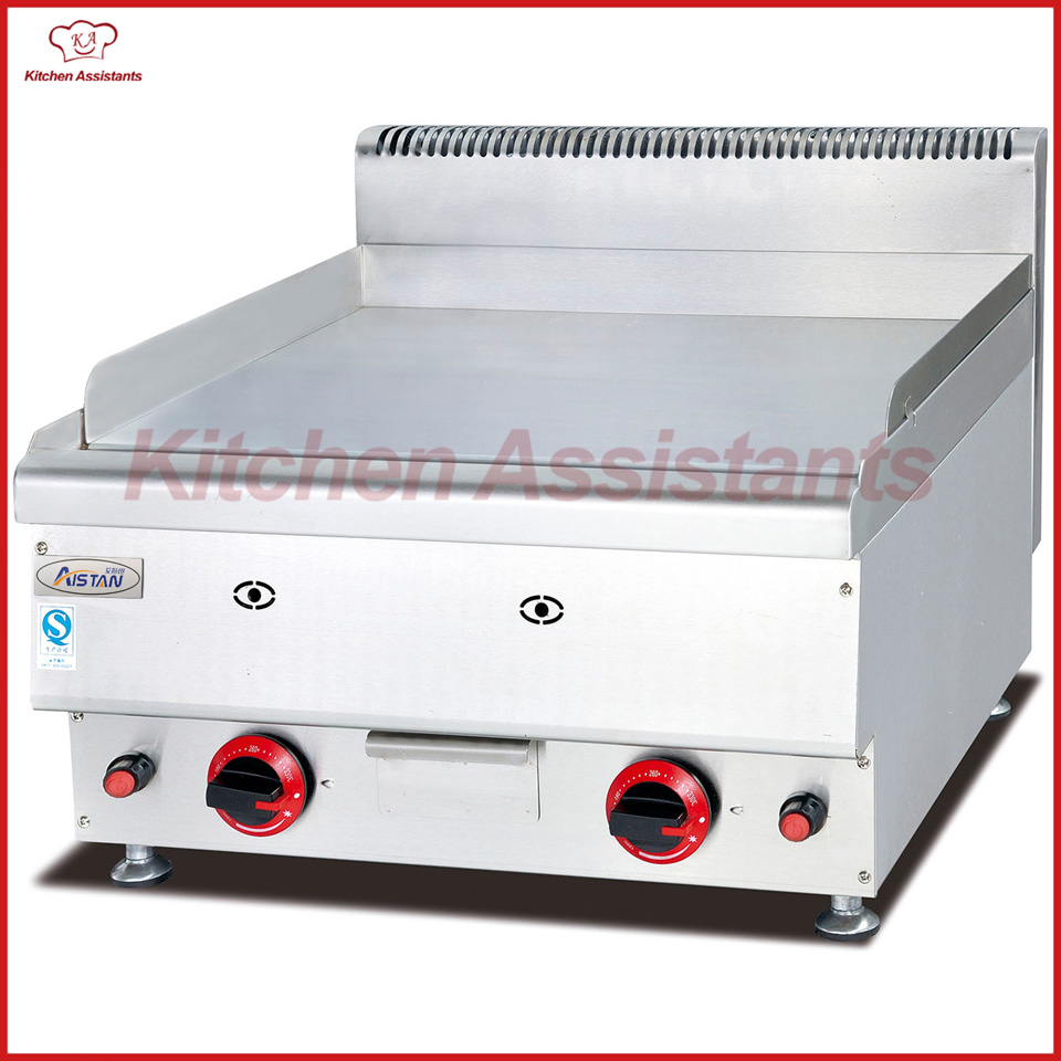GH566 Gas Griddle with all flat hot plate of kitchen equipment gh776 gas griddle with cabinet all flat
