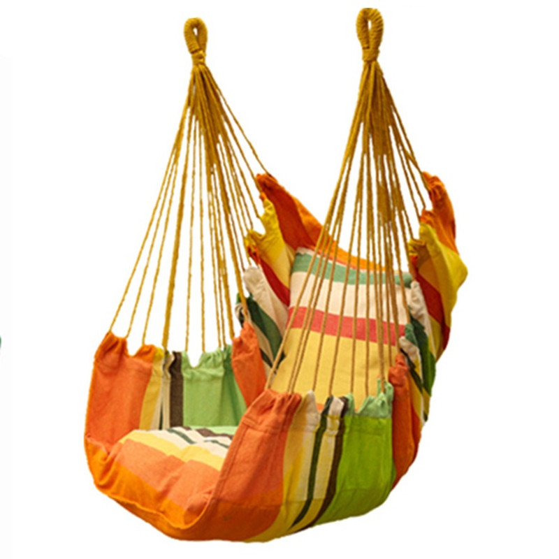 Garden Swinging Hanging Chair Cushion integration Indoor Outdoor Furniture Hammocks Thick Canvas Dormitory Swing Hammock Camping outdoor toy children kindergarten baby canvas swing hanging chair wooden indoor small swinging basket rocking chair with cushion
