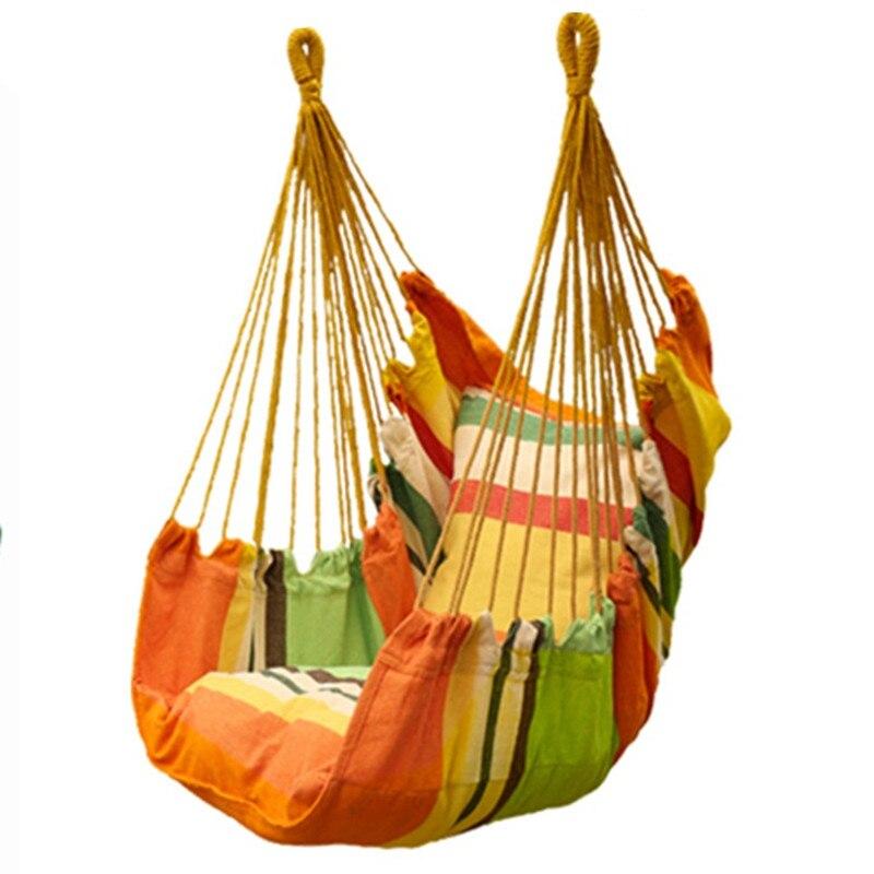 Garden Swinging Hanging Chair Cushion integration Indoor Outdoor Furniture Hammocks Thick Canvas Dormitory Swing Hammock Camping