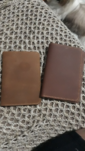 New 2019 Genuine Leather  Passport wallet Vintage Cow Leather Passport cover Unisex Wallet Credit Card Holder Travel Wallet photo review