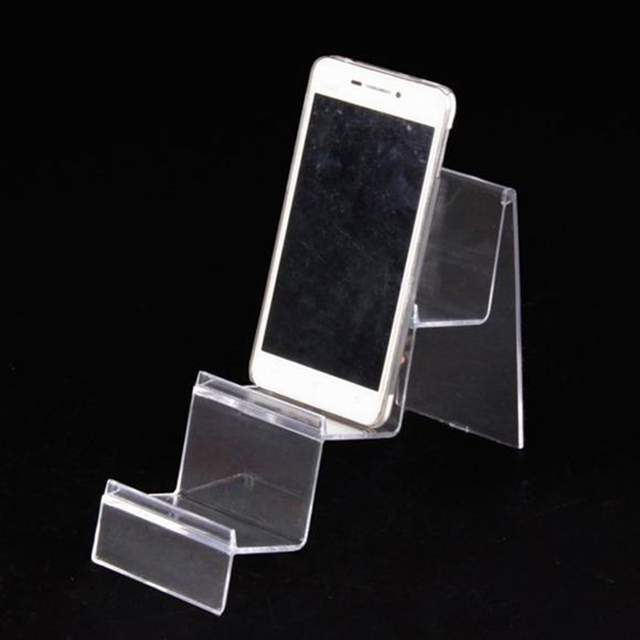 High end Clear Acrylic Three Layers Mobile Phone Holder