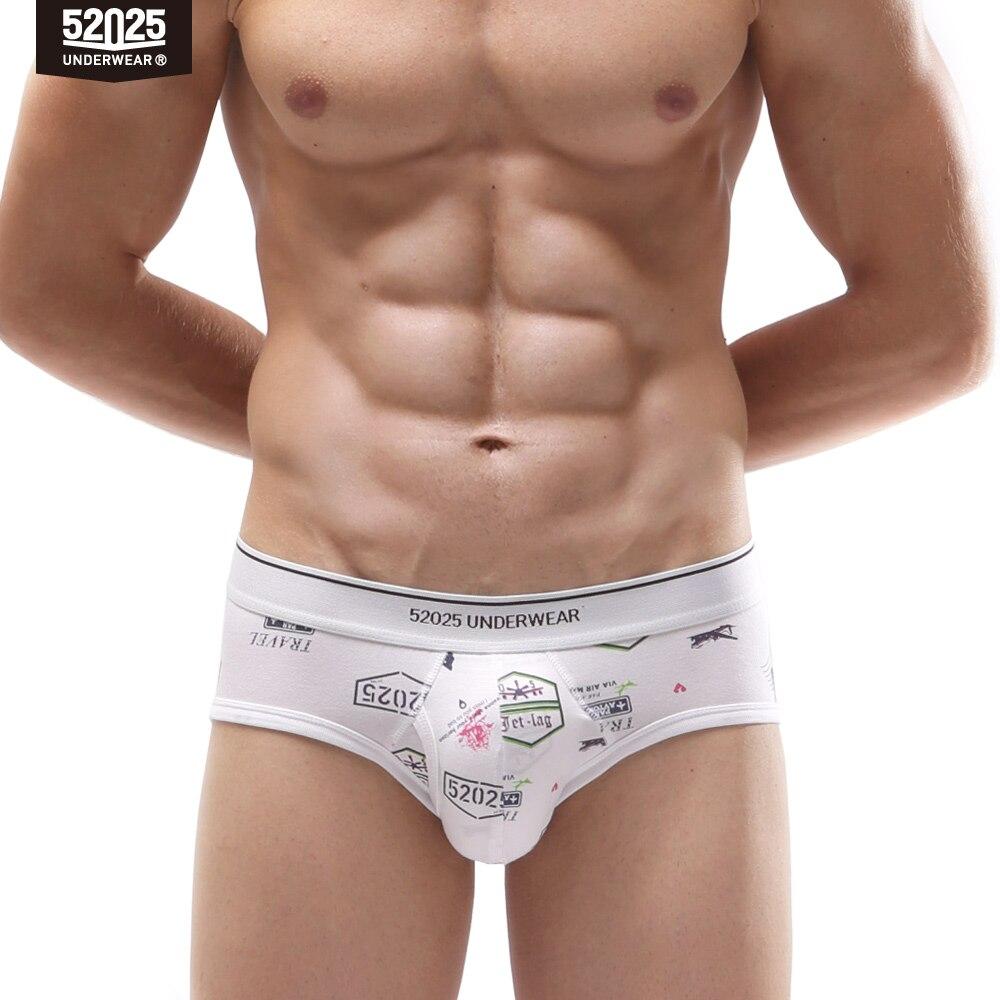 52025 Men Underwear Briefs Original Print Soft Comfortable Cotton Modal Breathable Underpants Mens Boxer Briefs Slip Sexy Men