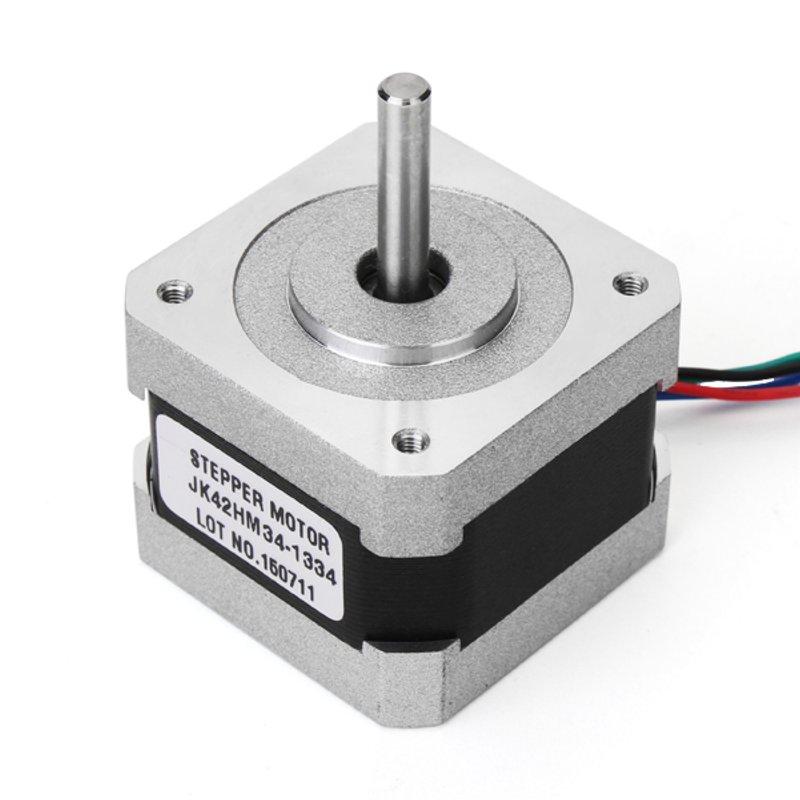 NEMA17 0.9 Degree 42mm Two Phase Hybrid Stepper Motor 1.33A 34mm For CNC nema17 1 8 degree 42mm 2 phase stepper motor fit adapter drive jk0220 for 3d printer cnc jk42hs40 1704