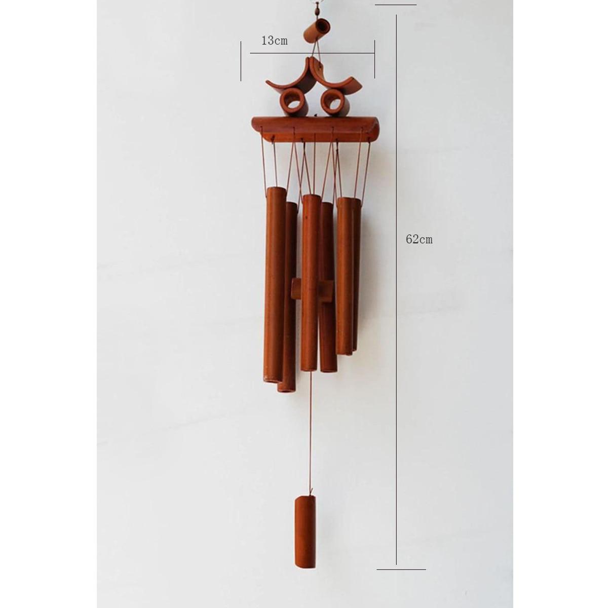 Billige Kaufen Bambus Holz Windspiele Rohre Outdoor Hängen Glocken