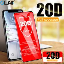 OLAF 20D Protective Tempered Glass on For iPhone XS Max XR X 7 8 6S 6 Plus Curved Edge Full Cover Screen Protector Film Glass(China)