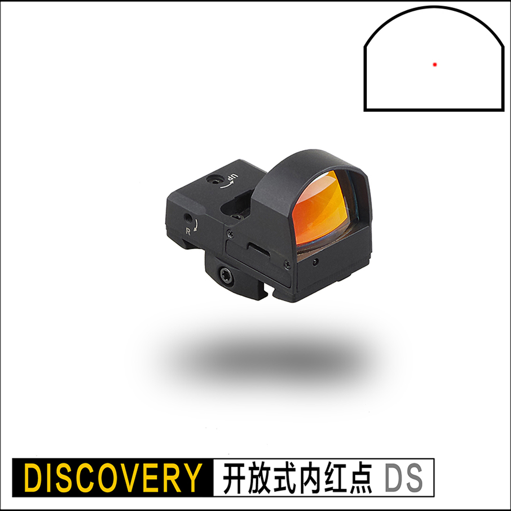 DISCOVERY rifle pistol red dot Sight scope for picatinny rail mount base Open key to adjust brightness hunting shooting