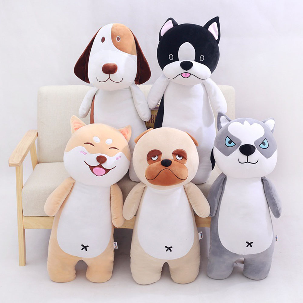 super cute plush toy dog Bulldog husky Pug pillow down cotton filling as a gift to the children and friends