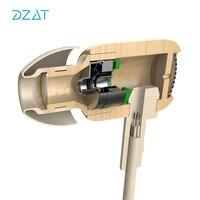 DZAT DF 10 3 5mm In Ear Earphone Wooden DJ Headset Pure Wood Heavy Bass Music