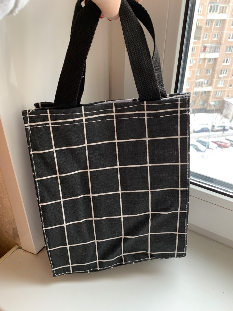 Waterproof Portable Canvas Shopping Bag Handbag Storage Student Book Bag Environmentally Friendly Lunch Bag Hot Sale photo review