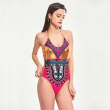 2018 New Europe And America Siamese Swimwear Women Indian Printing Hot Gold  Bikini Swimsuit