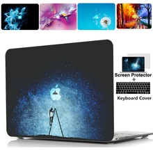 лучшая цена Printing Hard Case Shell Keyboard Cover Skin For Apple Macbook pro 13 15 Air 11 13 inch touch bar Retina 12 13 inch laptop case