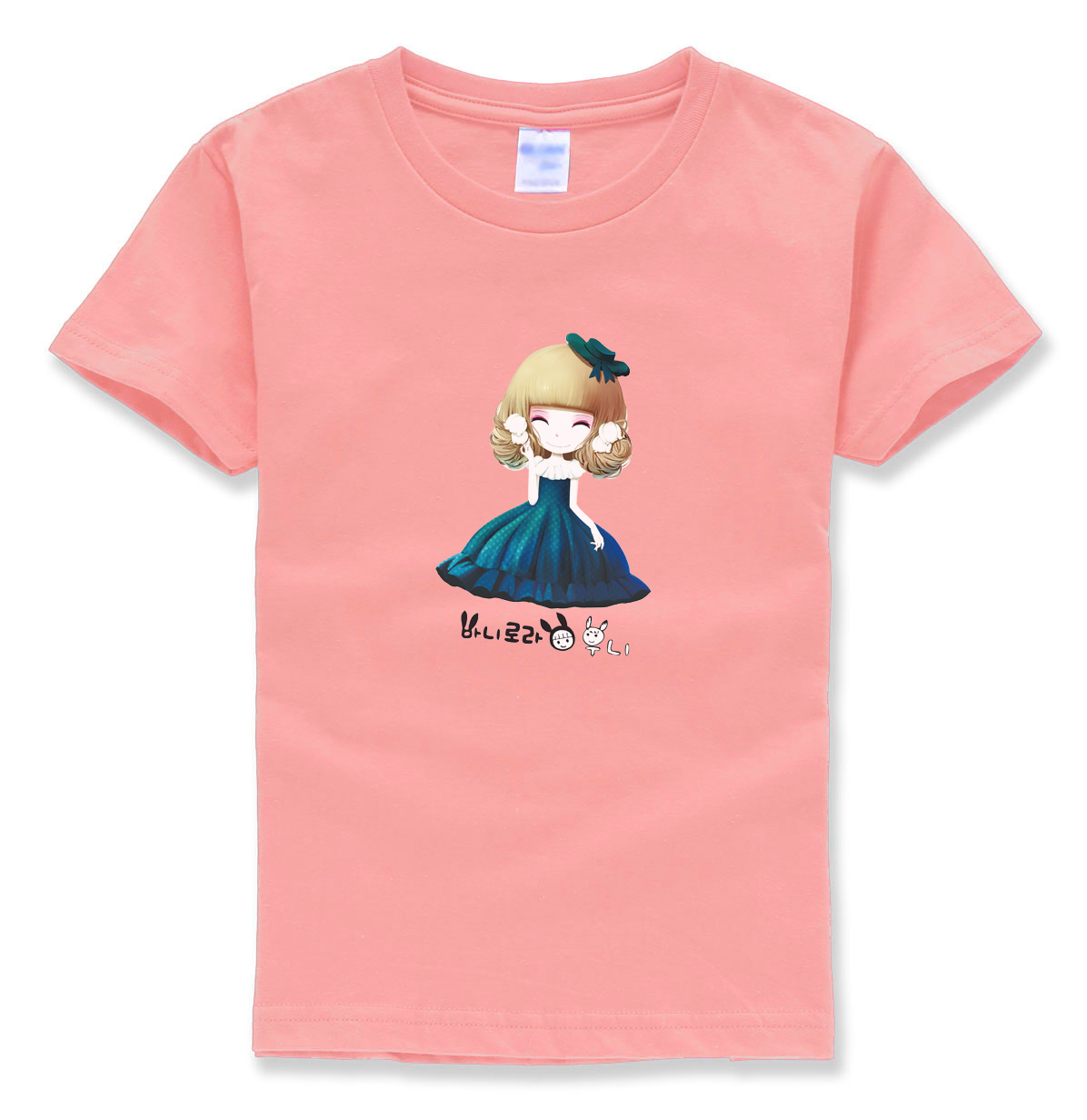 2017 summer girls tops t shirts brand cute kawaii streetwear homme kids shirts funny short sleeve o neck color children t-shirts