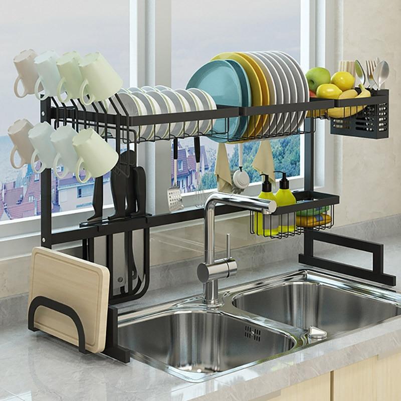 Tg Motoren Edelstahl Küche Waschbecken Trocknen Rack Haushalt Lagerung Halter Gericht Drain Rack Geschirr Regal Veranstalter