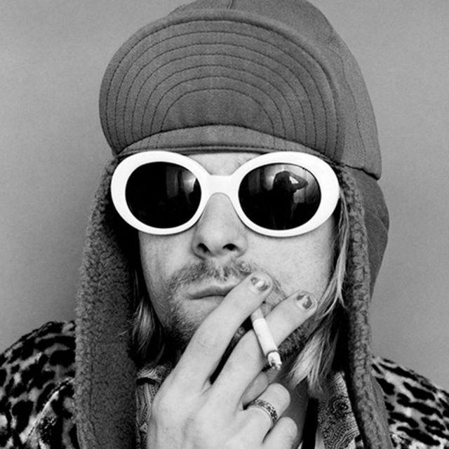Лидер продаж 2017 года Курт Кобейн стиль овальные очки Для женщин Винтаж Ретро круглая рамка белый мужские солнцезащитные очки красный хип-хоп прозрачного очки