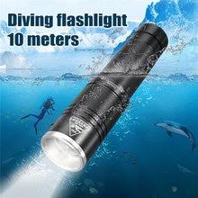 Neueste Elfeland D80 T6 3 Modi Wasserdicht Tauchen LED Taschenlampe 10 mt 18650/AAA Batterie Fackeln Tragbaren für Outdoor reise