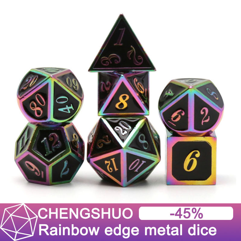 Chengshuo dnd dice metal rpg set polyhedral dungeons and dragon black table games Zinc alloy green digital dice pattern d20 10Chengshuo dnd dice metal rpg set polyhedral dungeons and dragon black table games Zinc alloy green digital dice pattern d20 10