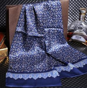 Image 4 - 送料無料メンズロングプリントデザイン100% 純粋な絹のスカーフネックスカーフ