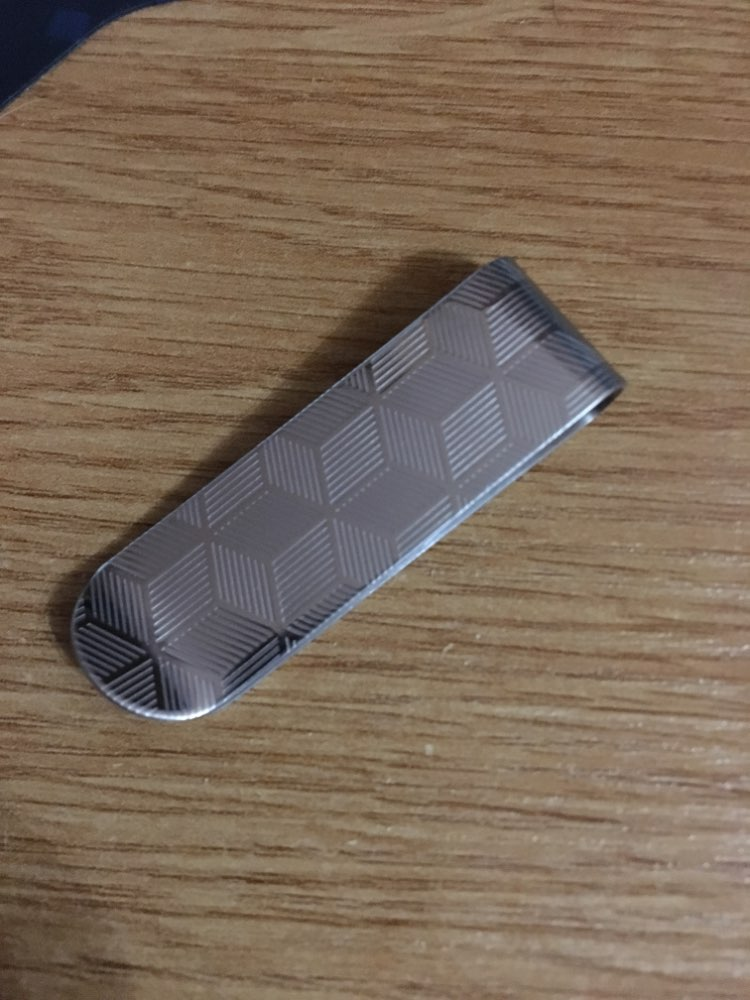 Brand Design Card ID Case Money Clip Metal Stainless Case Men Stripe Print Money Clips Money Clips Steel older Card ID photo review