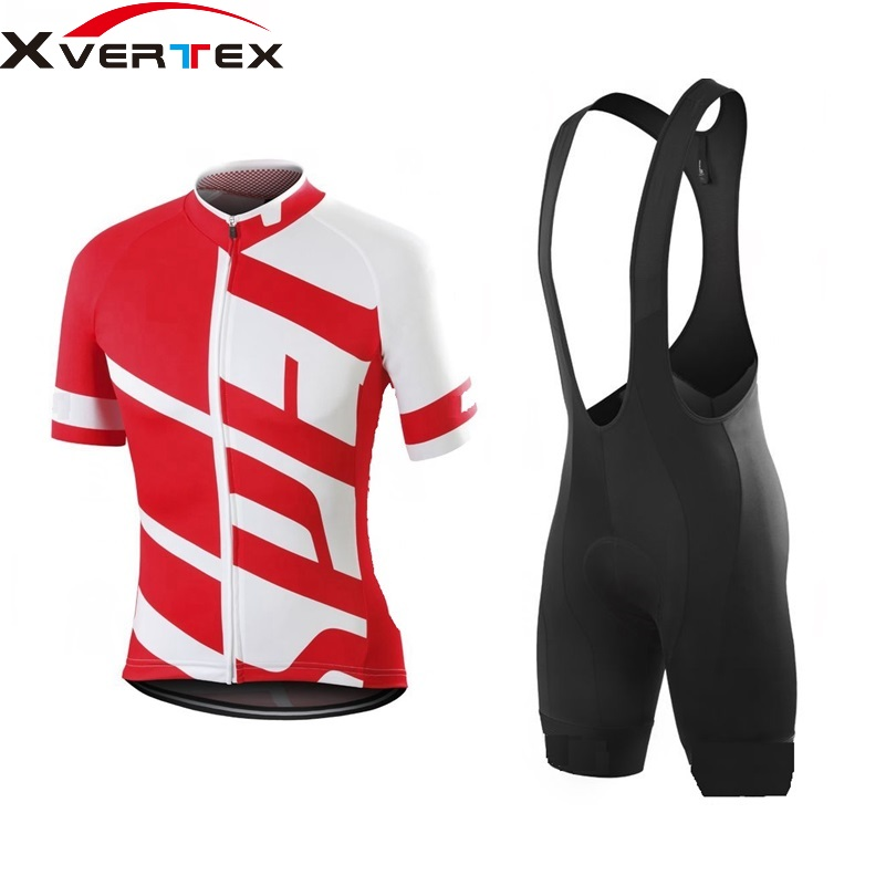 цена на Men's cycling kit 2018 Pro racing Team cycling kits short sleeve Jersey and bib shorts Summer bicycle Riding suit Ropa ciclismo