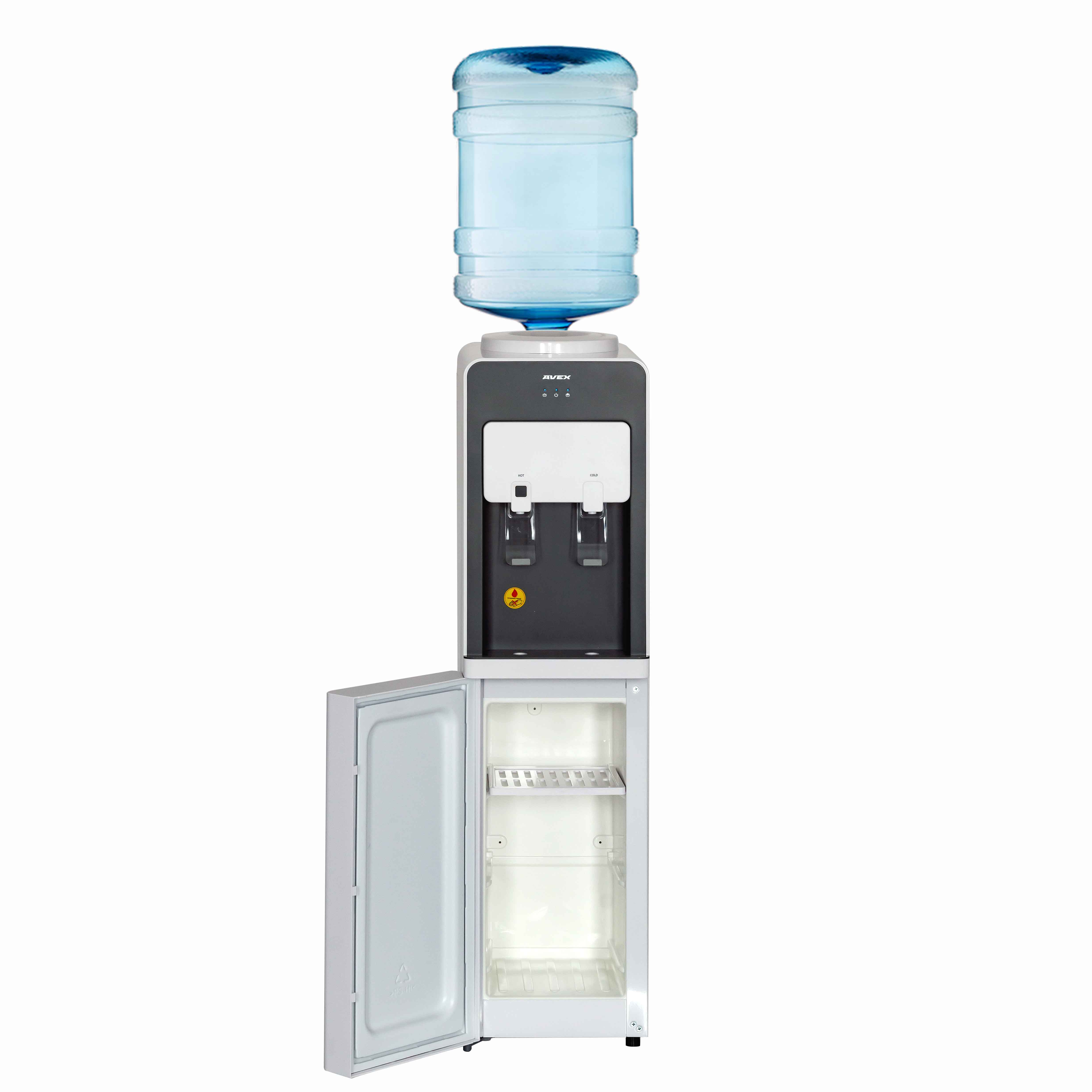 Water Dispenser with electronic cooling AVEX F-63W upright water dispenser hot water dispenser to warm mini type household refrigeration