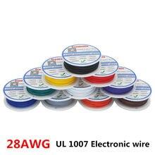 10m ul 1007 28awg 10 cores linha de cabo de fio elétrico estanhado fio de cobre pcb rohs ul certificação isolado cabo led