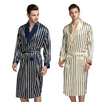 3384891af Para Hombre de seda pijamas de pijama Pijamas ropa de dormir bata batas  camisón trajes S M L