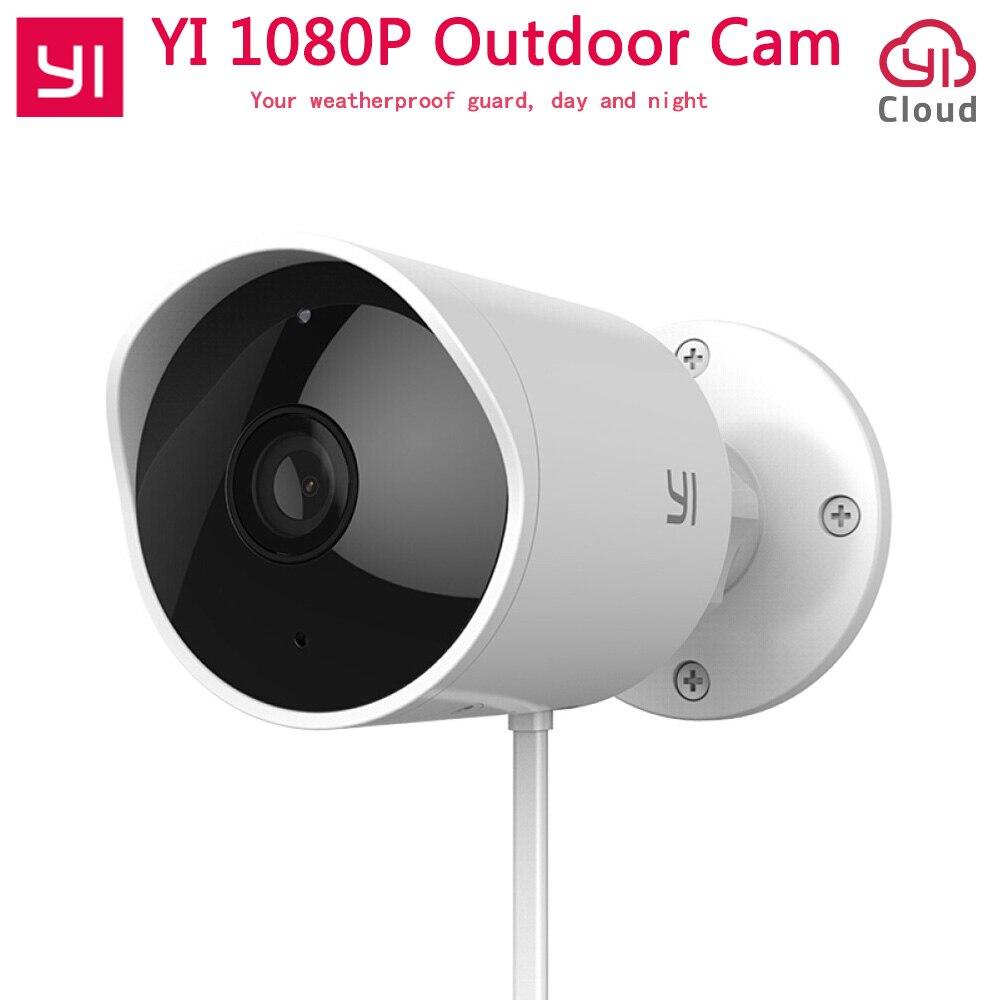 YI Nuvem Câmera de Segurança Ao Ar Livre Câmera IP Sem Fio 1080P Resolução Night Vision Cam Vigilância De Segurança À Prova D' Água