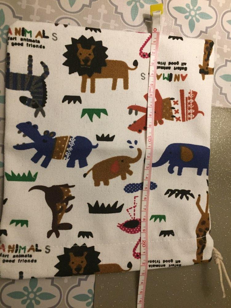 Raged Sheep Fashion Drawstring Cotton Grocery Shopping Bags Folding Shopping Cart Eco Grab Reusable Zoo Printed Bag photo review