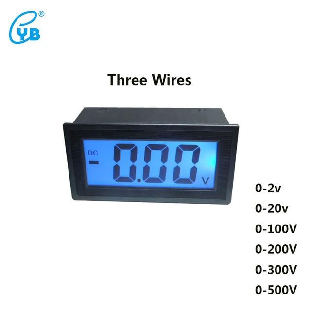 YB5135D DC Voltmeter LCD Three wire Digital Voltmeter Digital ... on