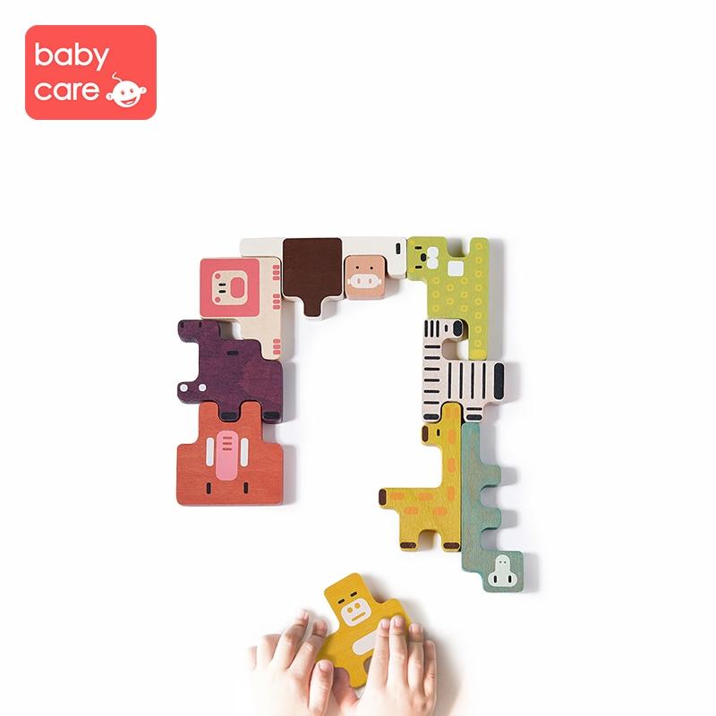 Babycare bébé Puzzle en bois/jouets à main Montessori saisir conseil ensemble éducatif en bois jouet dessin animé Animal Puzzle enfant cadeau jouet