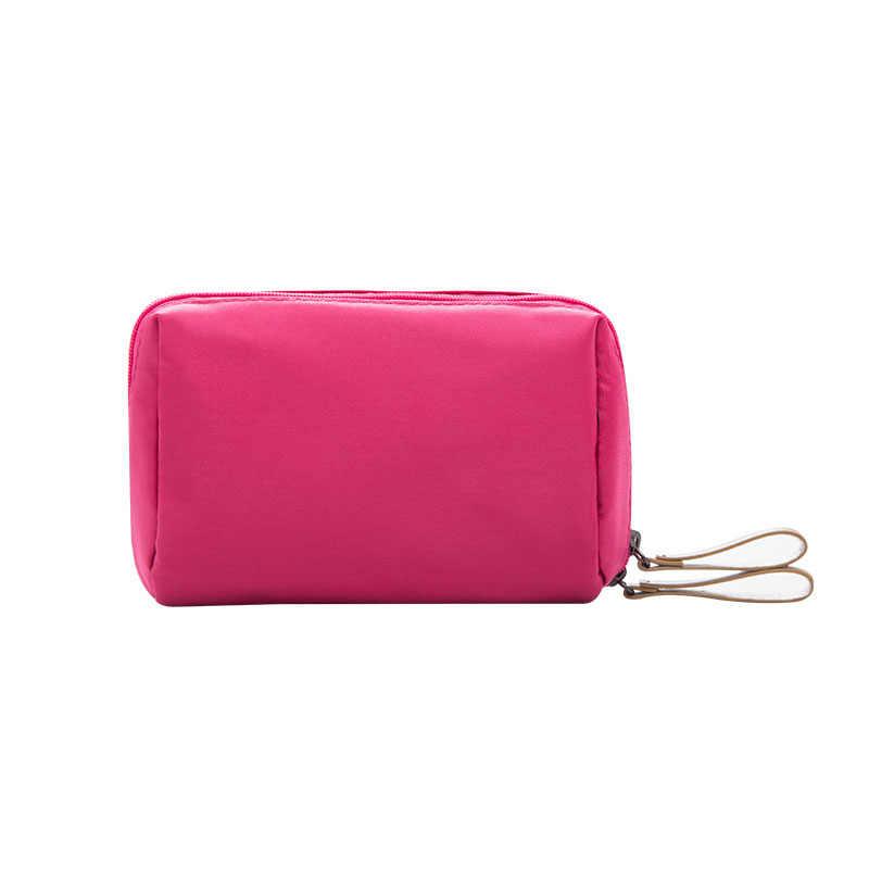 Marke mode Damen Kosmetik Kosmetik Tasche Organizer Reise Kosmetikerin Nylon mini Kosmetik Tasche Mädchen Frauen make-up taschen