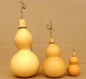 Image 2 - Bouteille ouverte gourde 18 ~ 25 cm Nature eau/bouteille de vin mascotte chinoise décoration de la maison Feng shui bricolage Doodle tentures cadeaux jouets C51