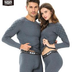 52025 شتاء دافئ ملابس اخلية حرارية رجال نساء ملابس اخلية حرارية الصوف اصطف سميكة القطن الجلد ودية طويلة جونز الحرارة الدافئة
