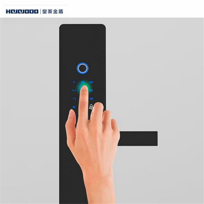 Hojojodo K2 General Smart Door Lock Fingerprint Touch Password Anti-theft Black Home Security Micro Usb Battery Charger In Pain