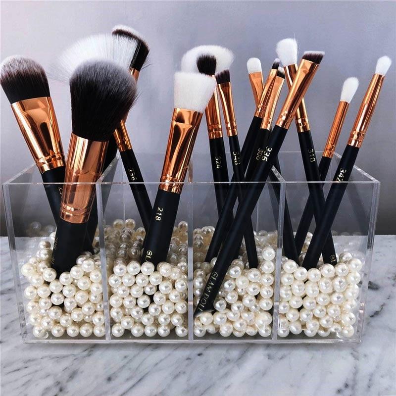 Acrylic Brush And Liner Organizer 4 Slots Lipstick Stand Case Jewelry Box Cosmetic Holder Storage Box