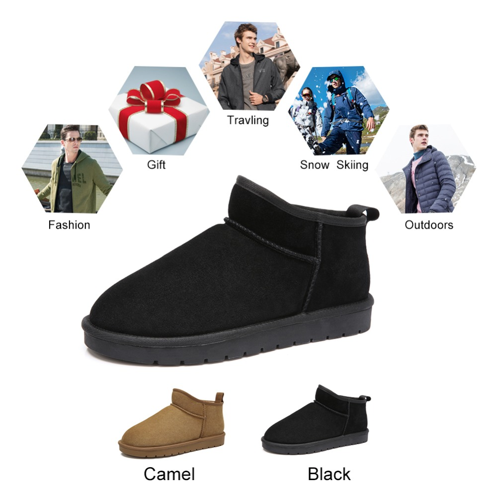 k842275139ts Botas De 47 Sapatos Bota on Grande Pele Inverno K842275139hs Camelo Porte Homem Scrub Com Preto Quente Novas Casuais Neve Slip Homens Curto wBTESZq5Z