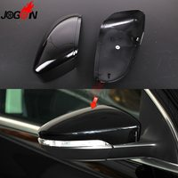 For VW Passat B7 CC Scirocco MK3 Jetta MK6 EOS Beetle R Black Side Wing Rearview Mirror Cover Trim Replacement Caps Case