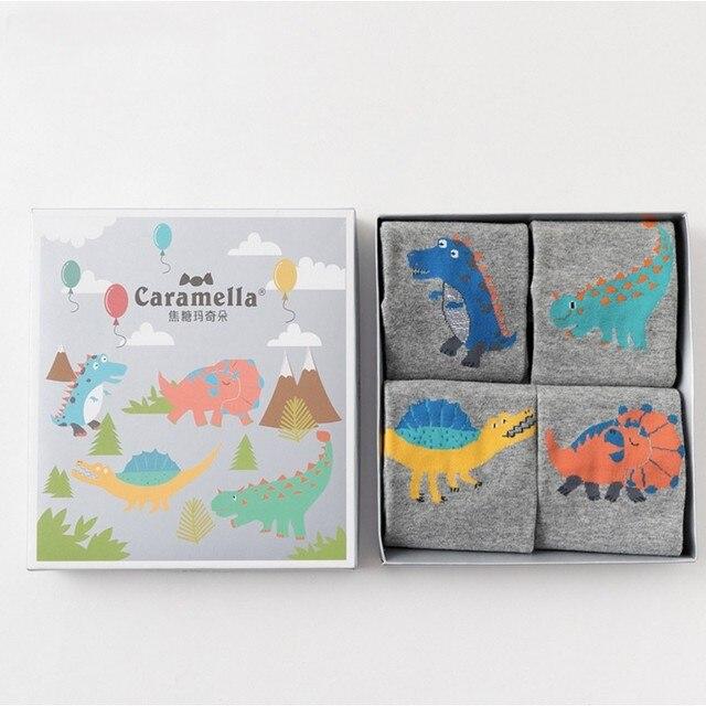 """Комплект детских носков """"Мир динозавров"""", 4 пары"""
