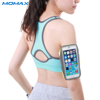Momax Original Waterproof Sport Arm Band Case for iPhone Samsung Phone Under 5.5 Inch Running Gym Phone Accessories Cover Bags