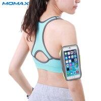 Momax Oryginalny Wodoodporna Sport Arm Band Case for iPhone Samsung Telefon Pod 5.5 Cal Running Gym Akcesoria Do Telefonów Pokrywa Torby