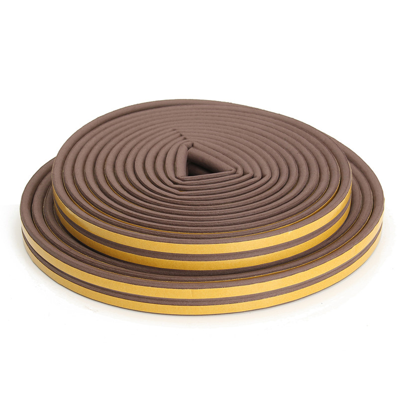 MTGATHER 20m P-type EPDM Weather Window Door Strip Self Adhesive Draught Excluder Seal EPDM Hot Sale