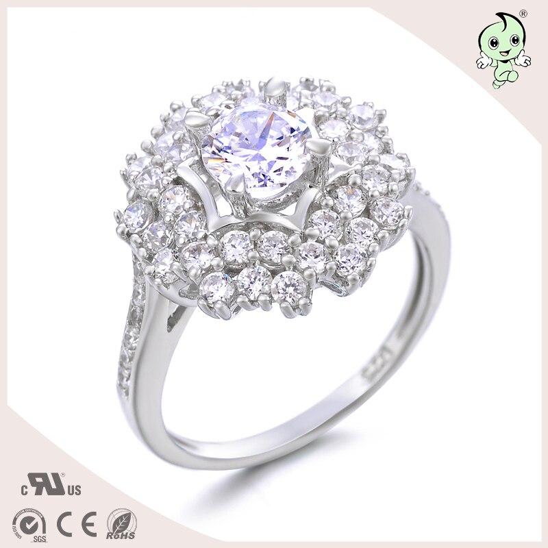 Новые 925 серебро Fine Jewelry Роскошные Брендовые женские старинные циркон кольца обещание обручальное кольцо