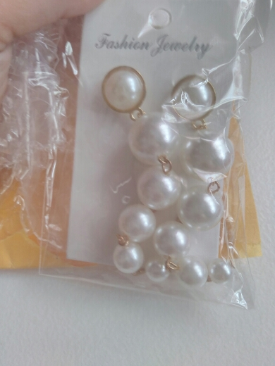 Long Statement Pearl Earrings photo review