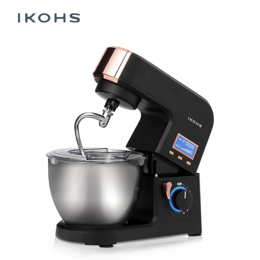 IKOHS KING MASH mélangeur alimentaire bol aluminium 5.5L 1500W 8 vitesses numérique haute cuisinière Super silencieux Support professionnel mélangeur