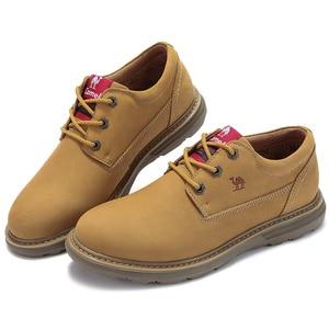 Image 5 - 캐멀 새로운 패션 남자 공구 신발 남자의 정품 가죽 신발 남자 야외 캐주얼 야생 편안한 남자 신발